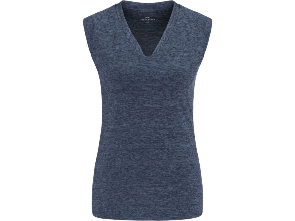 Funkční modré melírované triko Eleamee, Venice Beach (Barva Modrá, Velikost M)