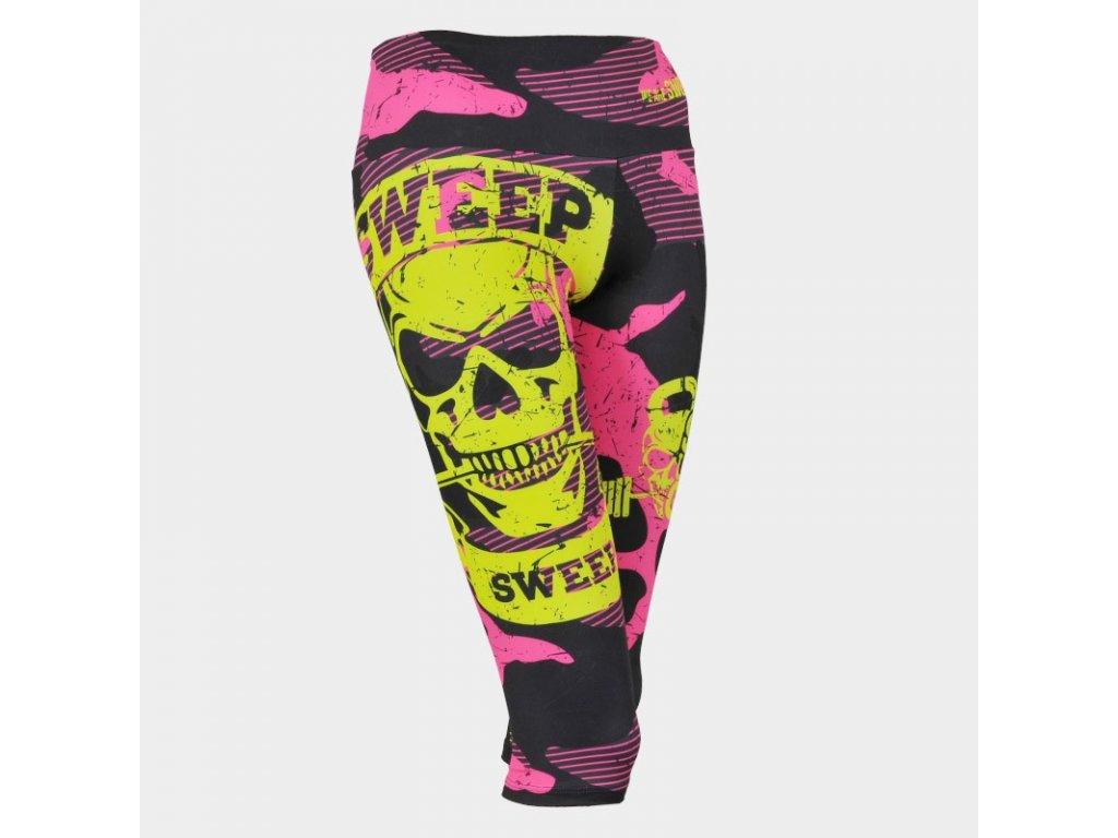 swpt036 black pink camo yellow skull a