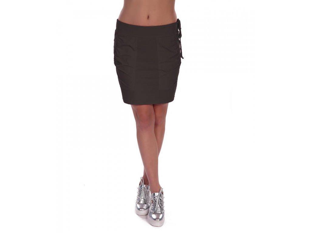 Neywer Dámská funkční elastická sportovní sukně černá ES323 (Barva Černá, Velikost L)