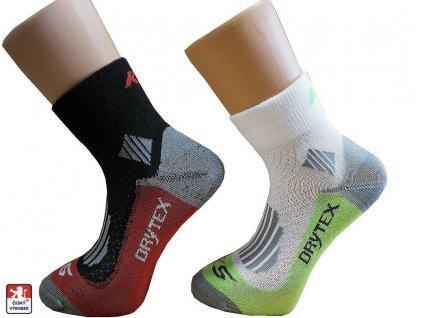 KS-Dry Pondy nízké funkční ponožky bílé a černé (Barva Bílá, velikost-ponozek 37-38)