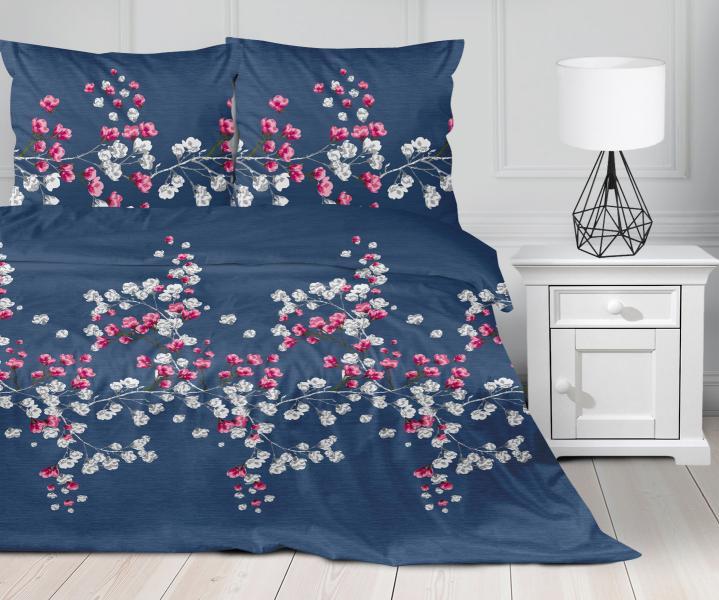 modre-bavlnene-obliecky-na-postel-s-kvetinami-gabonga