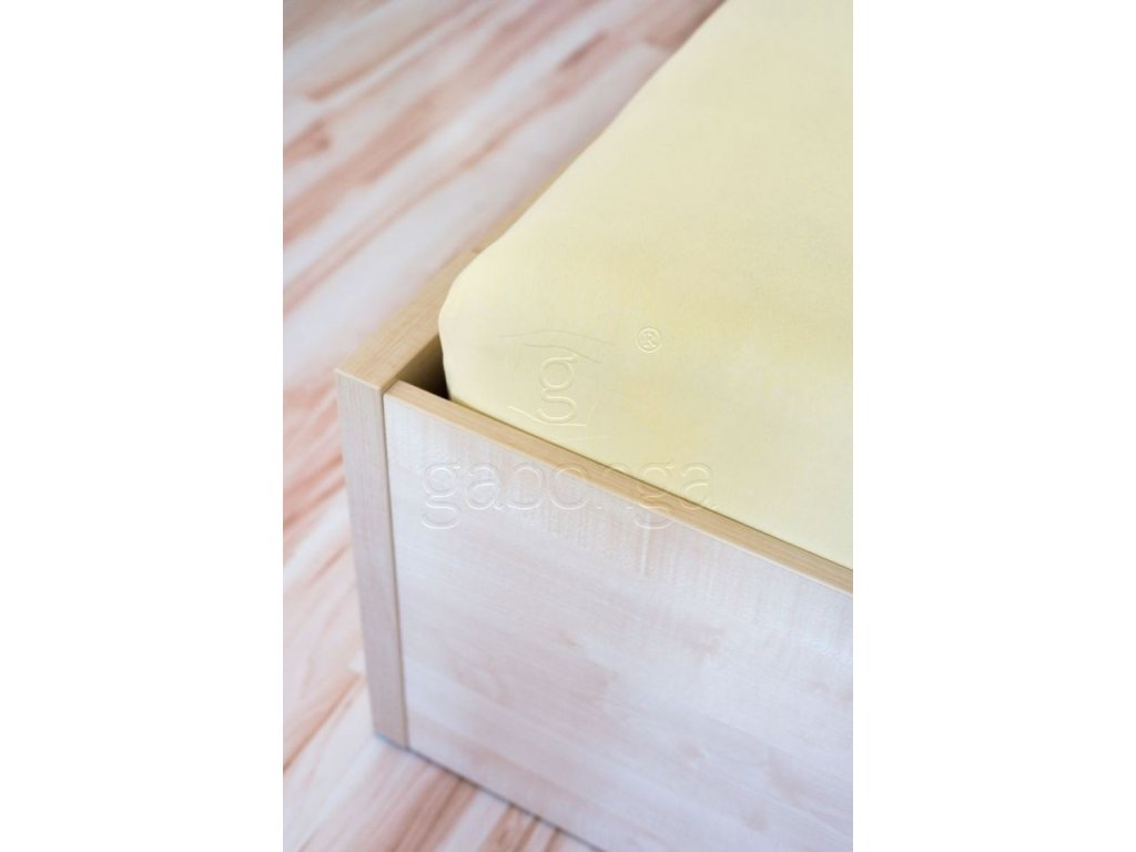 Vanilková atypická posteľná plachta - 80x160cm
