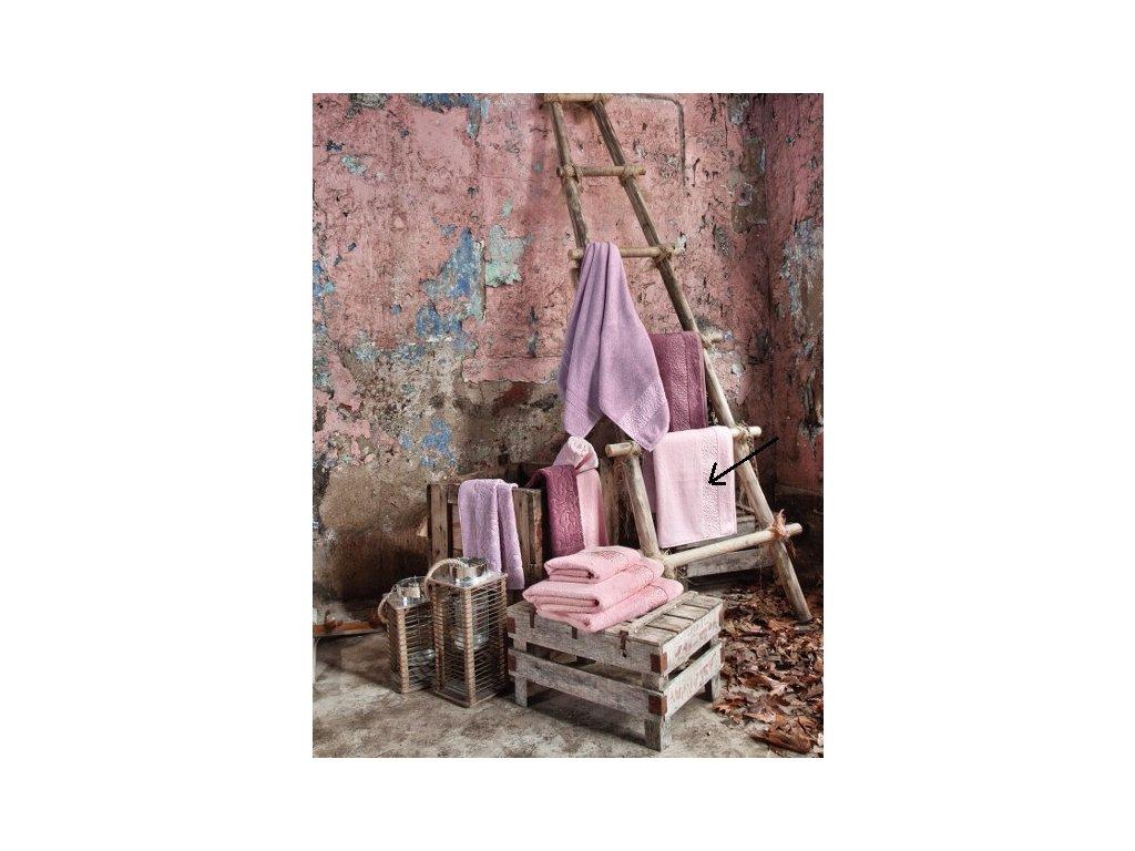 Bambusový uterák - Valencia svetloružová - 50x90cm