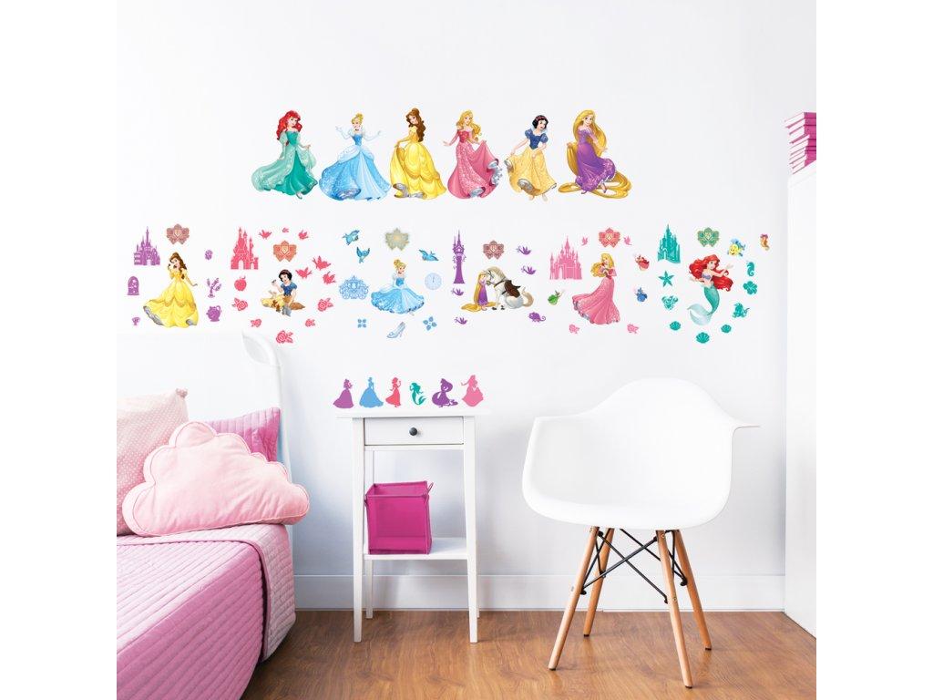 Sada nálepiek na stenu - Disney Princess