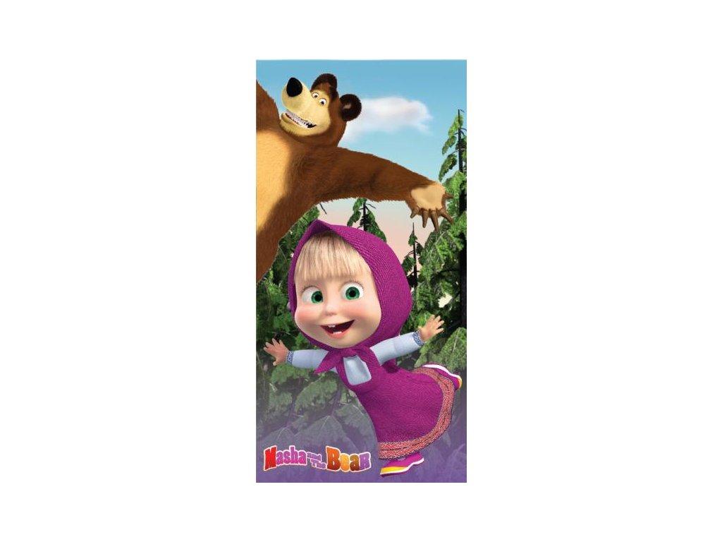 Detská osuška Máša a medveď 01 70x140cm