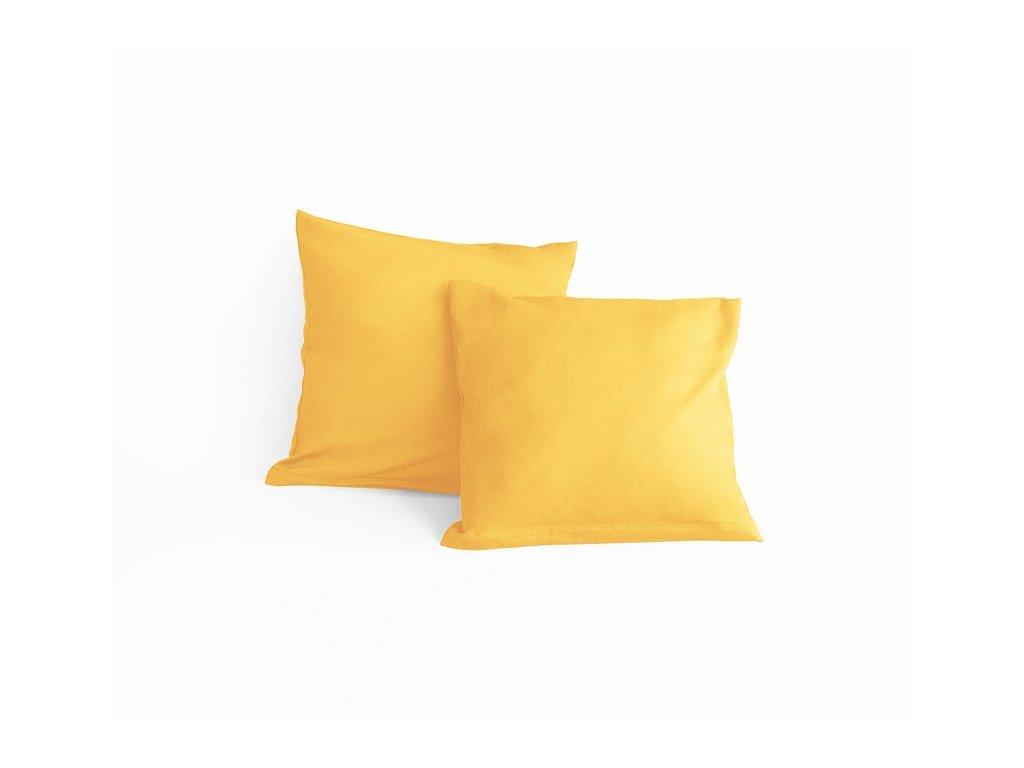 Žltá obliečka na malý vankúšik - 40x40cm + zips