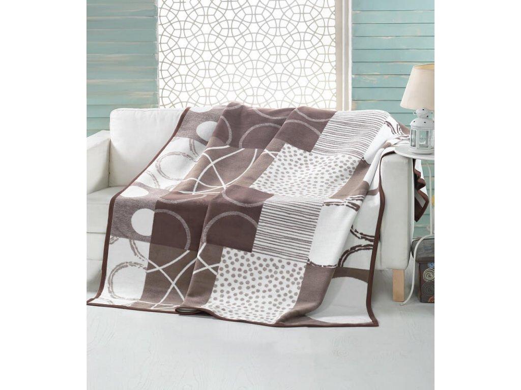 Luxusná béžová bavlnená dekaBrenton - 160x220cm - Matějovský