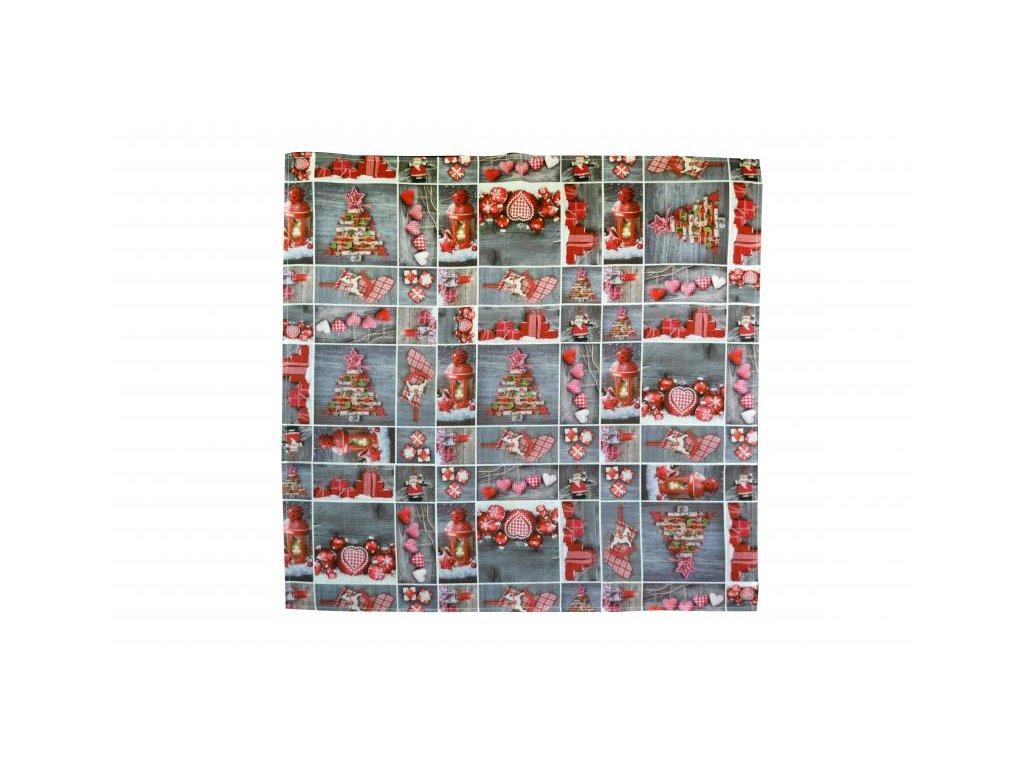 Obrus Vianoce sivý 85x85cm