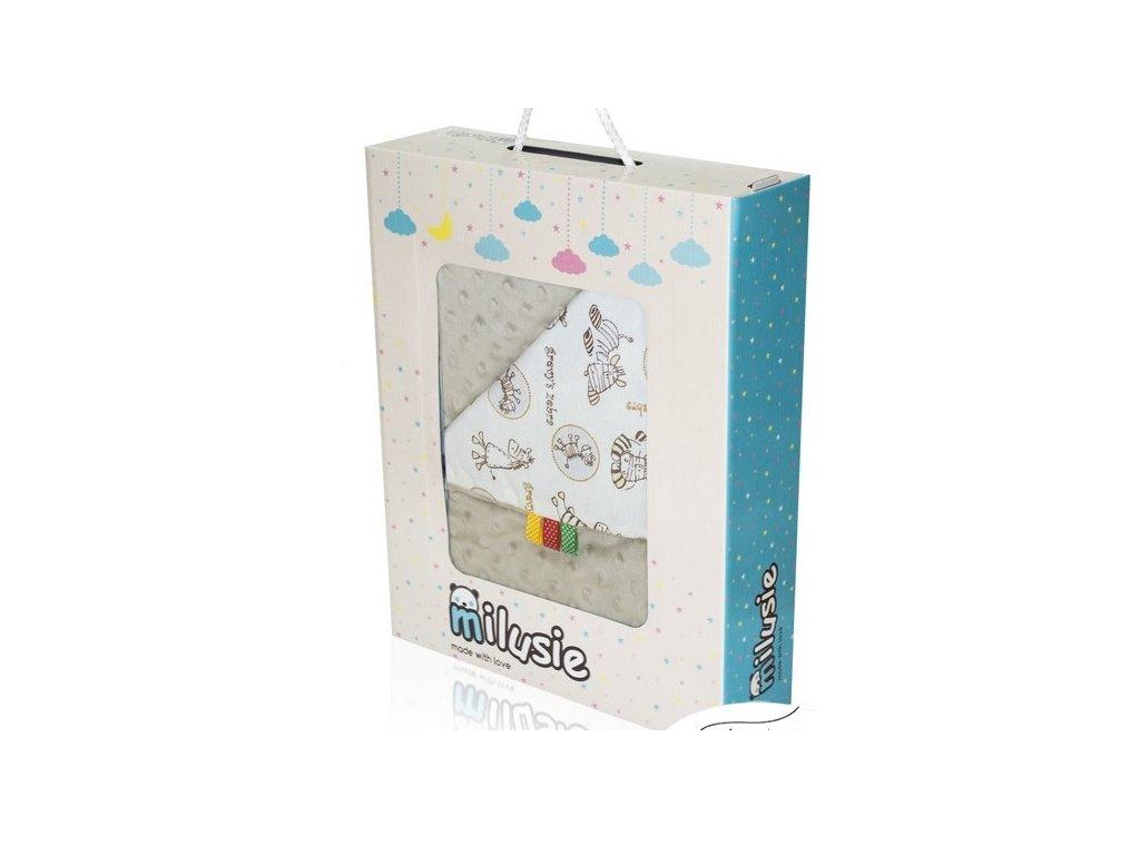 Detská béžová deka Milusia - 75x100cm