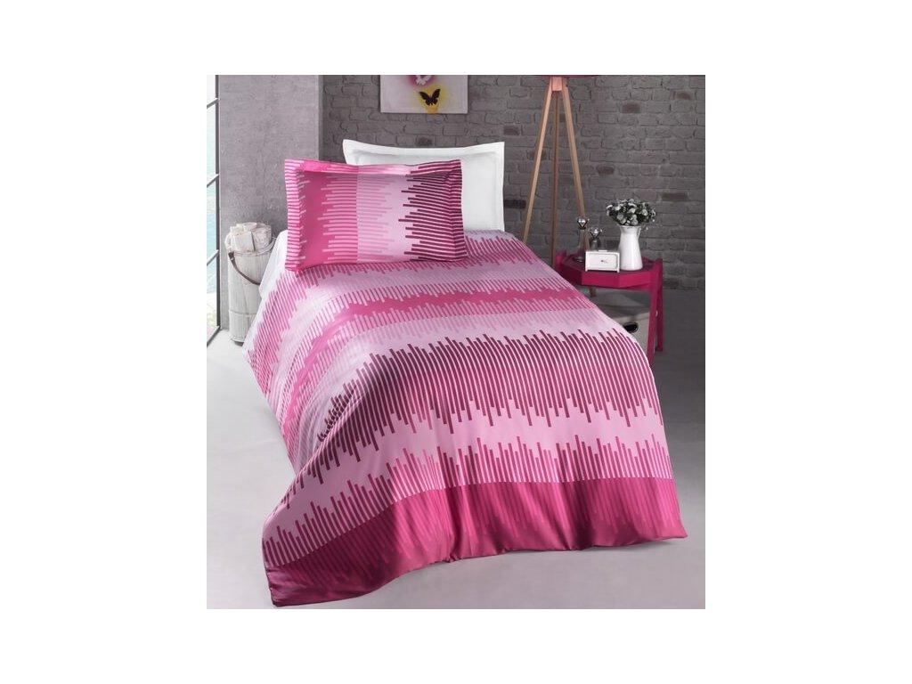 Rúžové bavlnené obliečky Energy DeLuxe