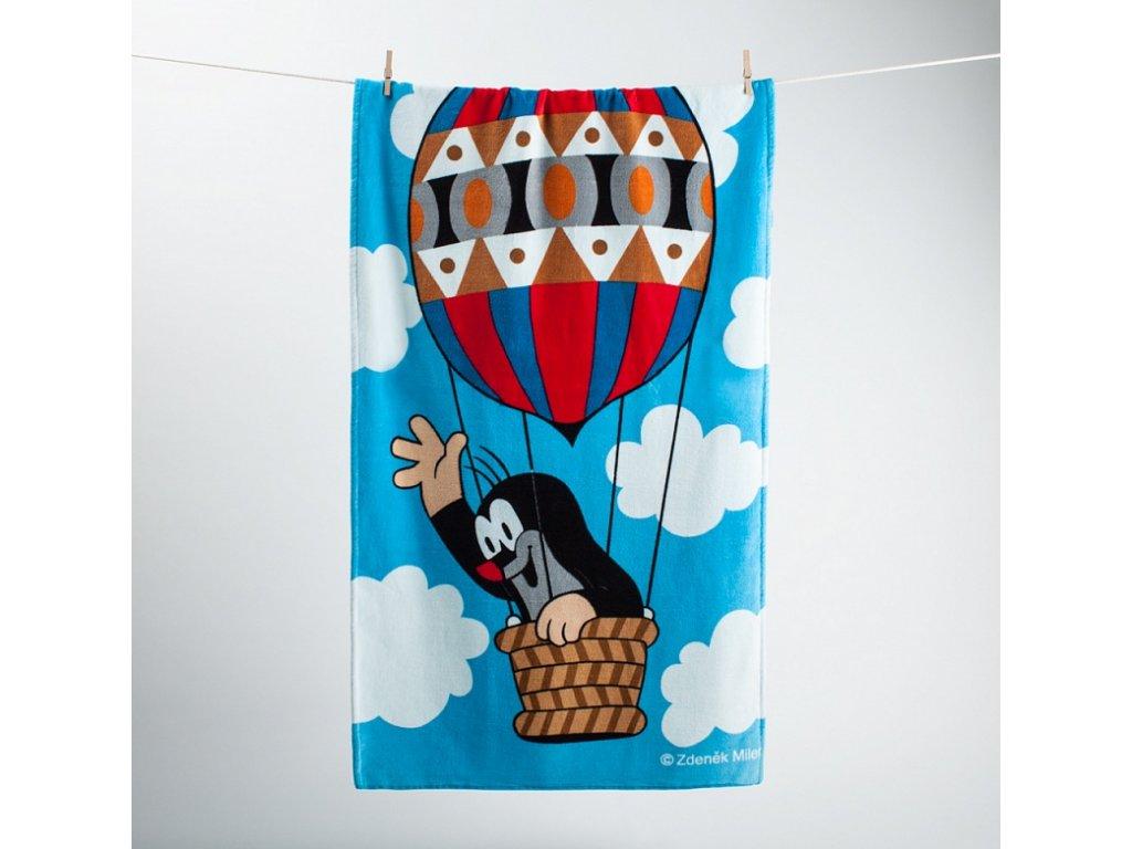 Detská plážová osuška Krtko v balóne - 70x140cm