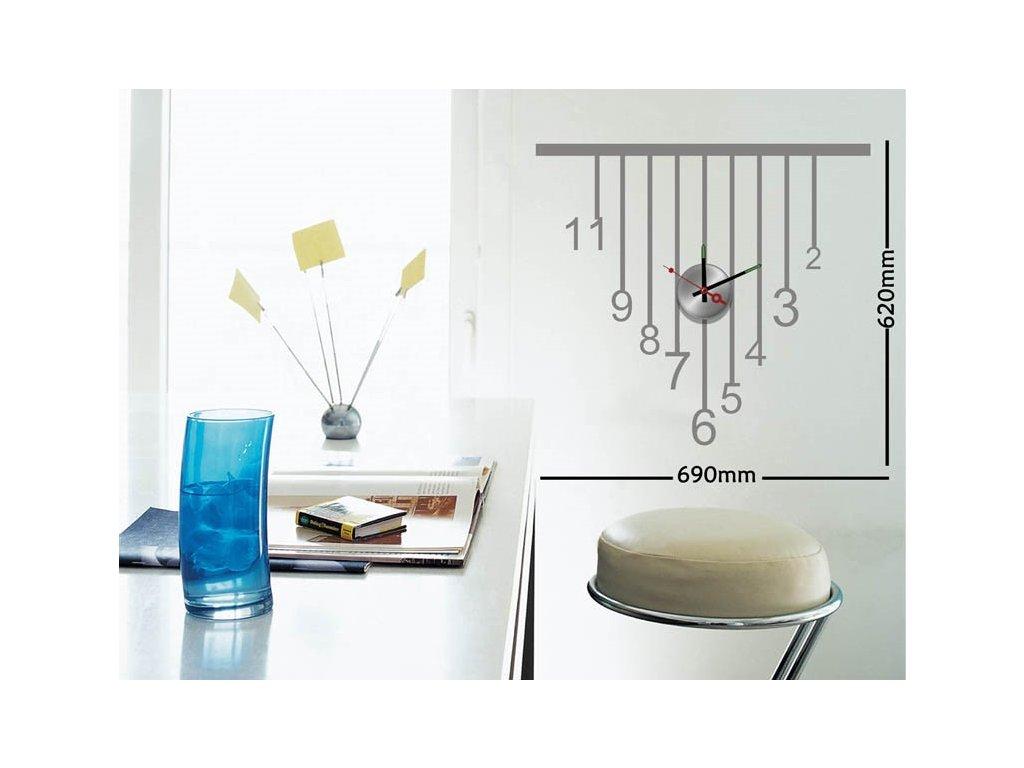 Dizajnové nástenné nalepovacie hodiny Decor