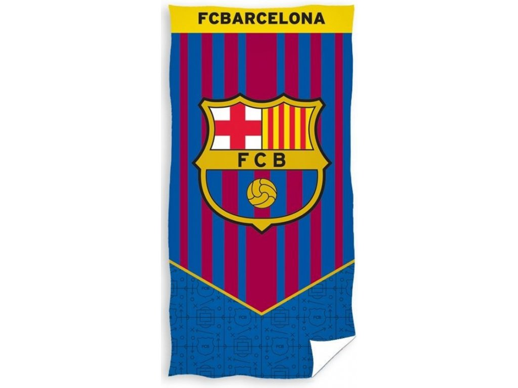 Detská plážová osuška FC Barcelona - 70x140cm