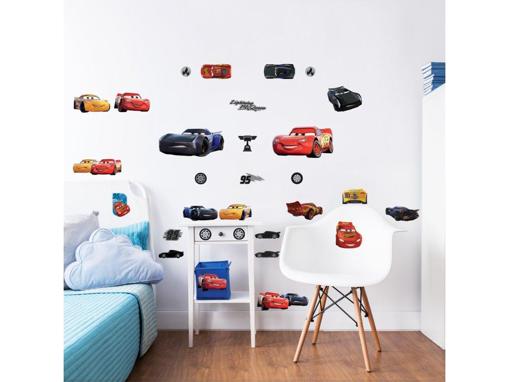 Sada nálepiek na stenu - Autá / Cars