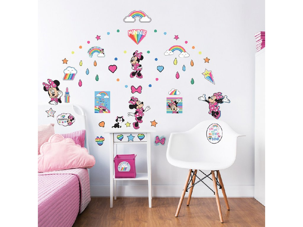 Sada nálepiek na stenu - Minnie Mouse