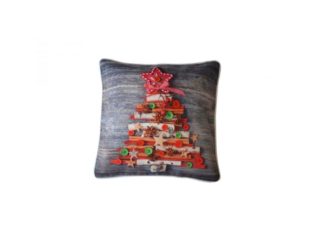 Sivá vianočná obliečka - 40x40cm
