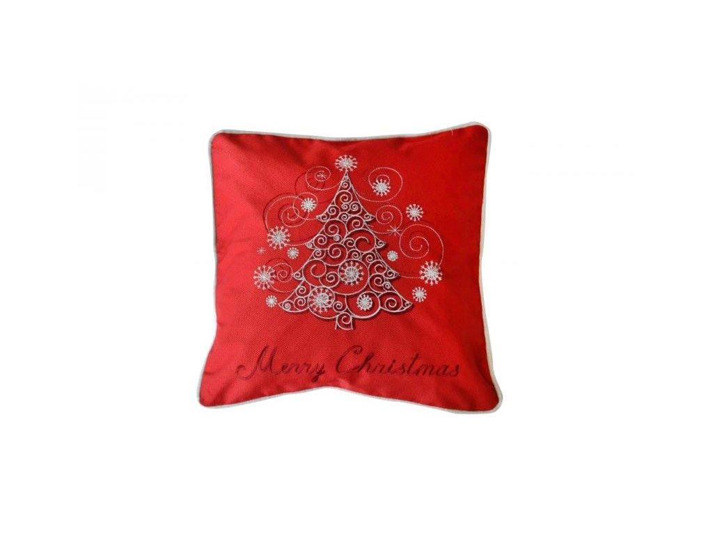 Červená vianočná obliečka - 40x40cm