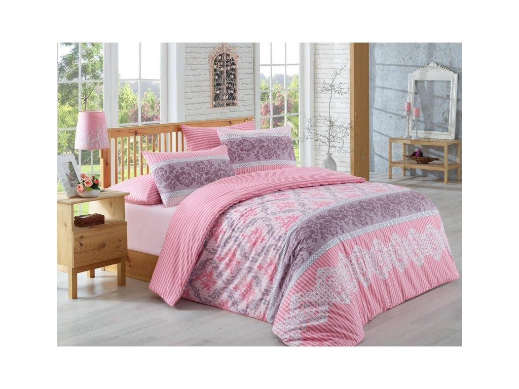 Rúžové bavlnené obliečky Irene DeLuxe