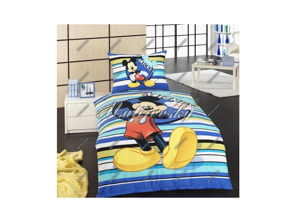 Obliečky do postieľky Mickey baby modré