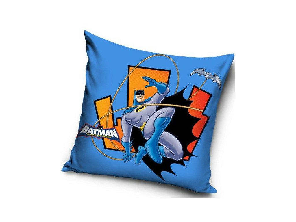 Obliečka na vankúšik Batman - modrá - 40x40cm