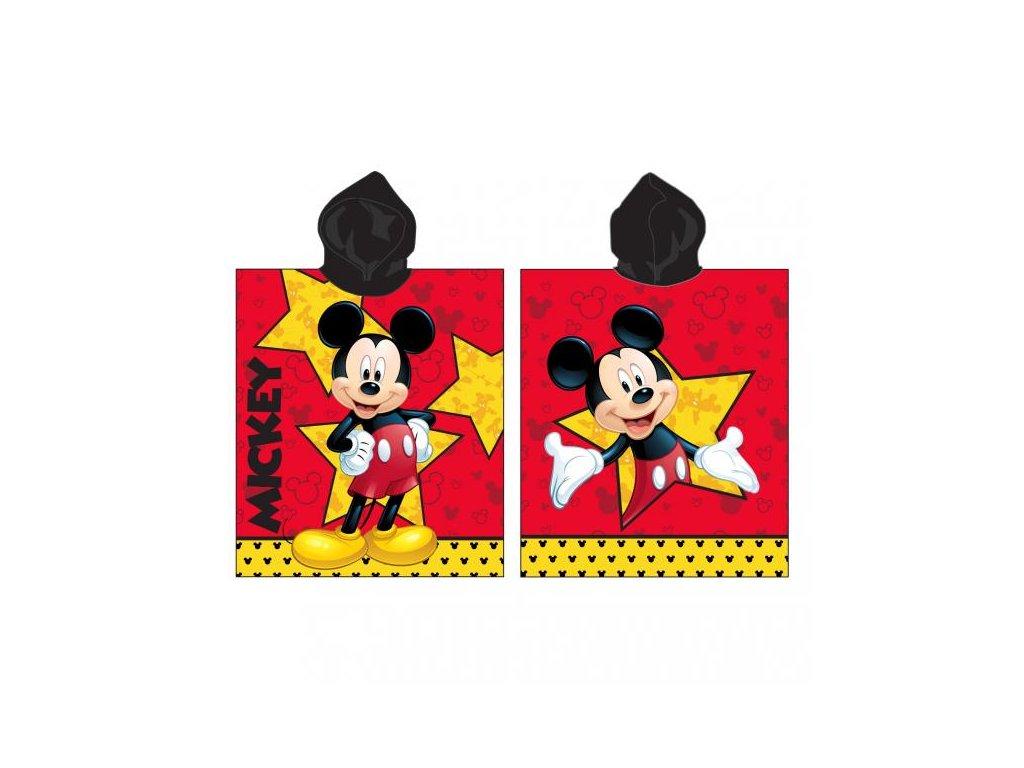 Detské pončo s kapucňou - Mickey Star - 50x115cm