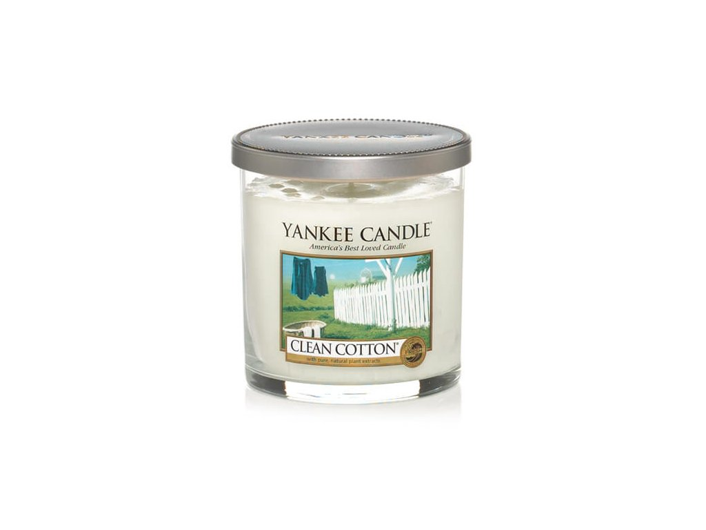 Vonná pillar sviečka Yankee Candle - Clean Cotton