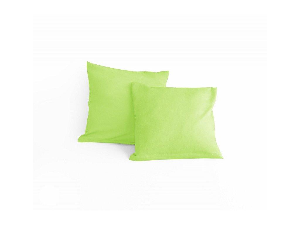 Zelenkavá obliečka na malý vankúšik - 40x40cm + zips
