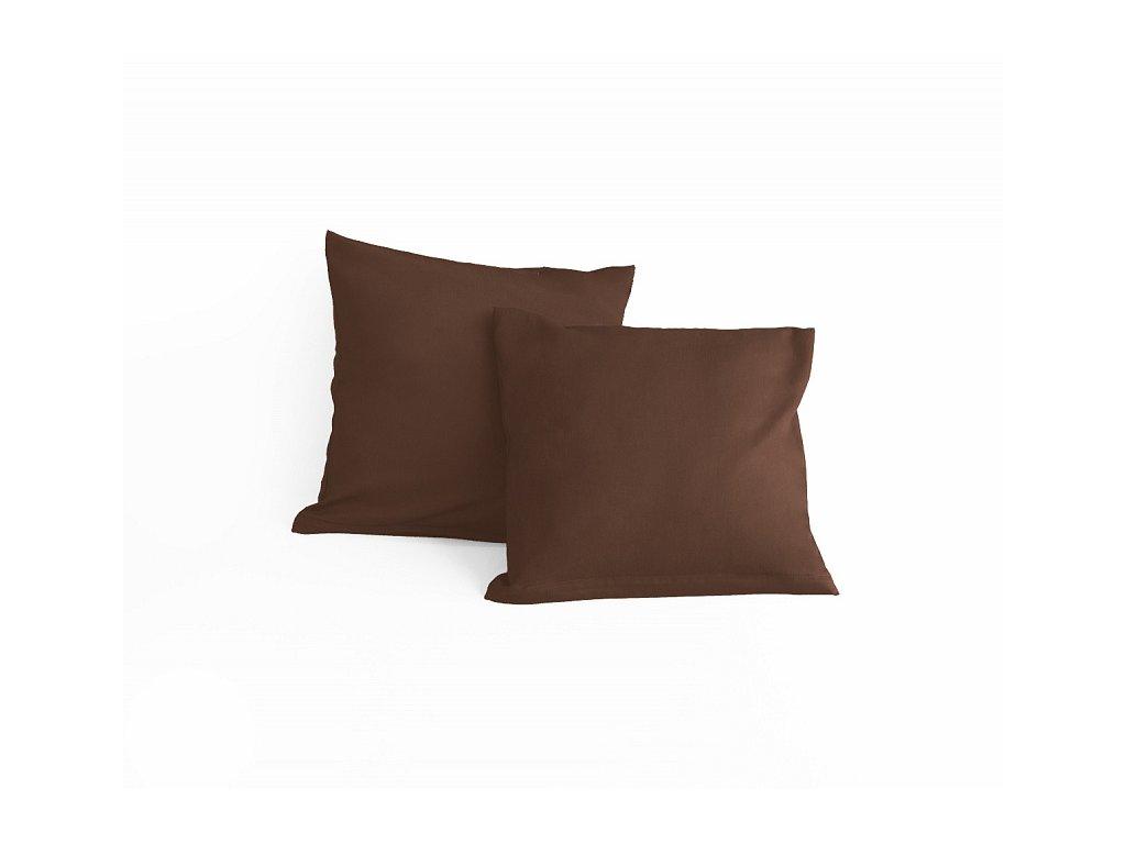 Hnedá obliečka na malý vankúšik - 40x40cm + zips