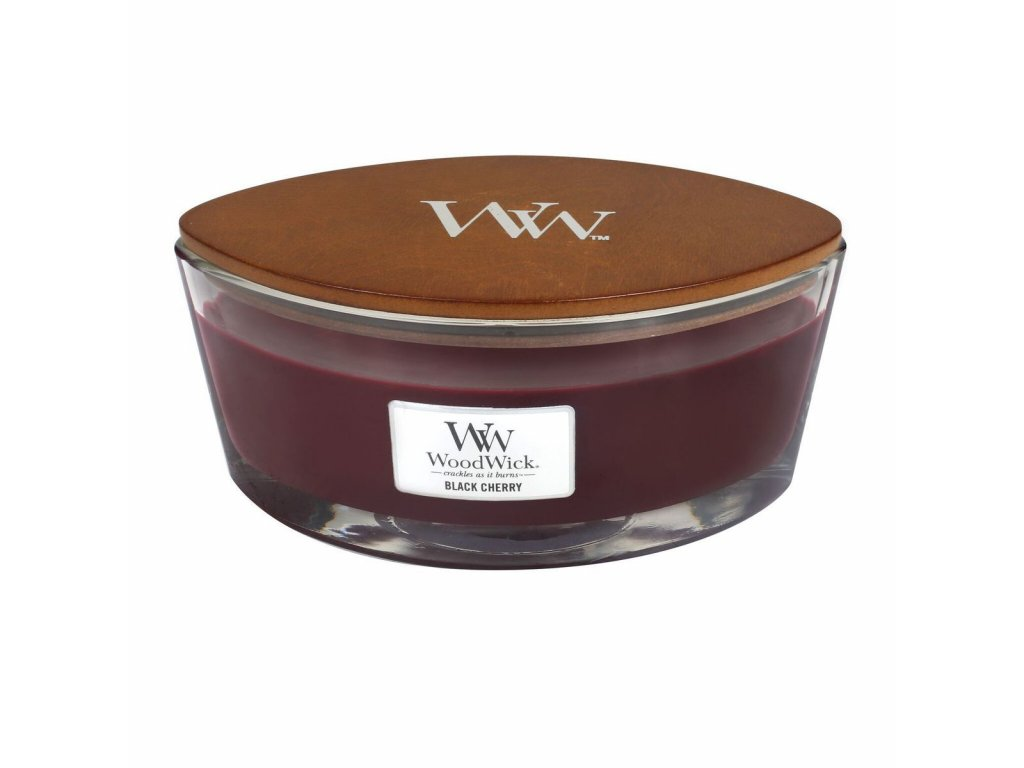 Vonná sviečka Woodwick - Ellipse - Black Cherry