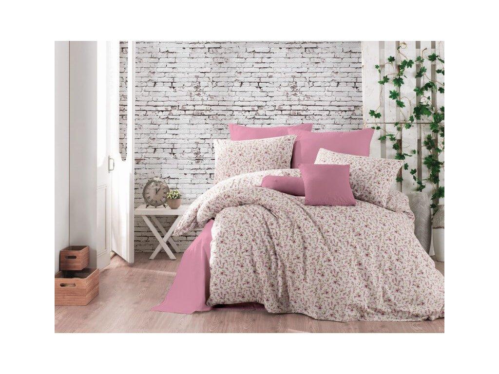 Fialo-ružové obliečky s malými kvietkami_Gabonga