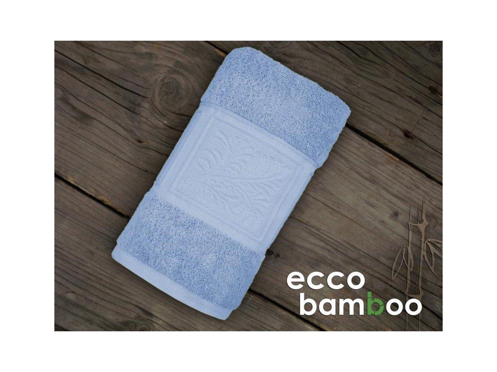 Modrý uterák Ecco bamboo - 50x90cm