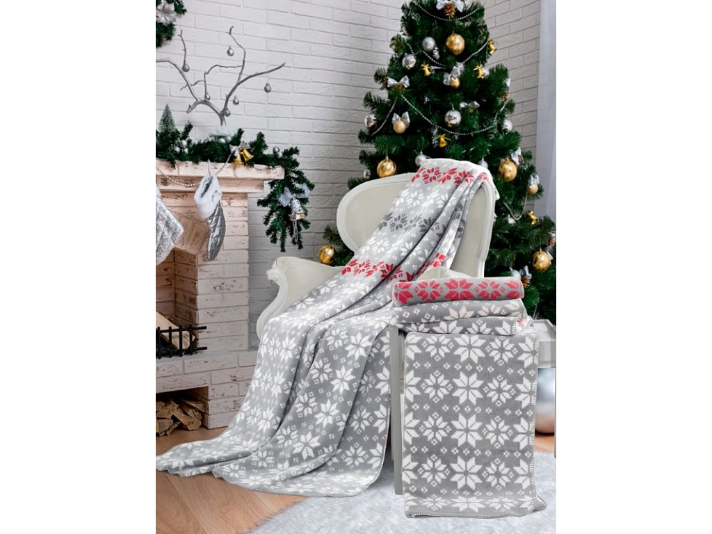 Luxusná hrejivá vianočná deka Hermosa - 160x220cm - Matějovský