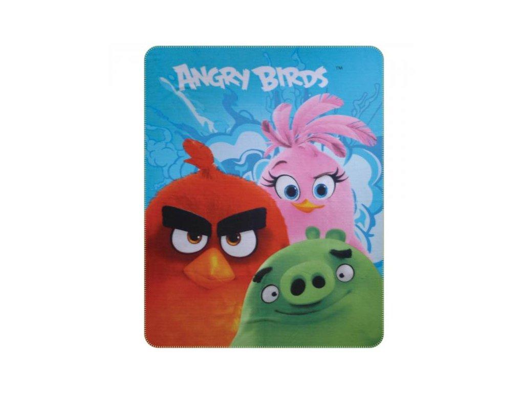 Detská flísová deka Angry Birds - 110x140cm