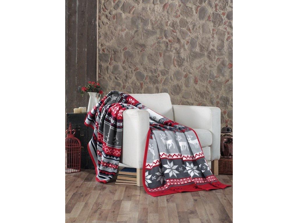 Hrejivá vianočná deka Skandik - 160x220cm - Matějovský
