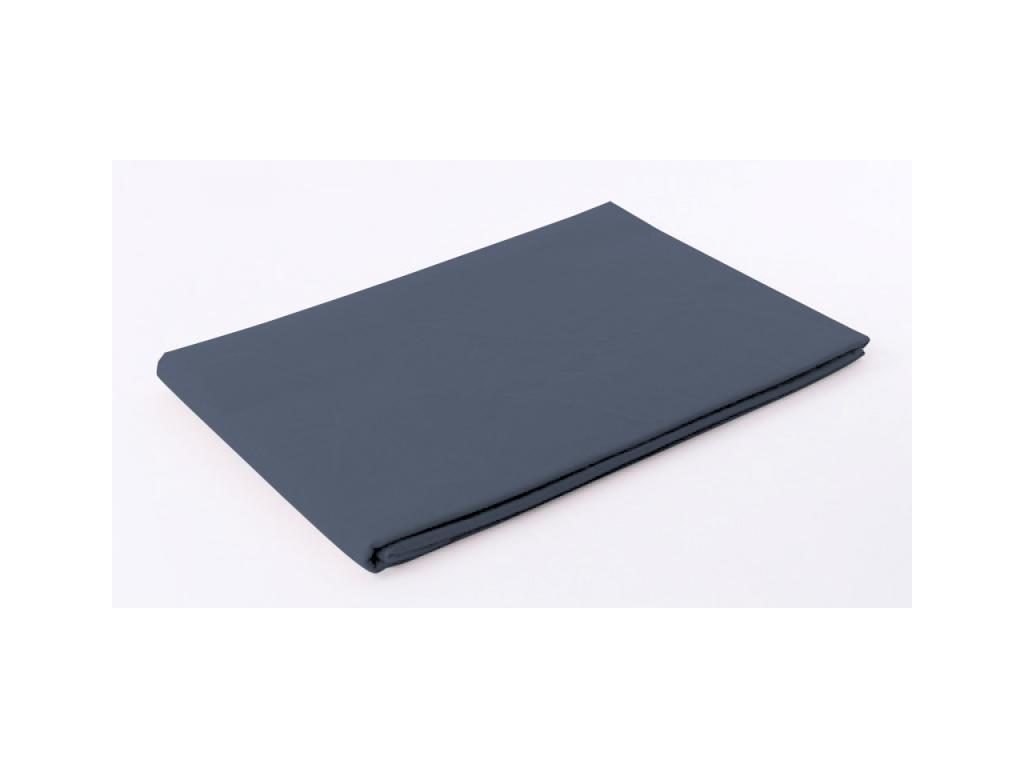 Tmavošedá plachta na posteľ bez gumičky - 220x210cm
