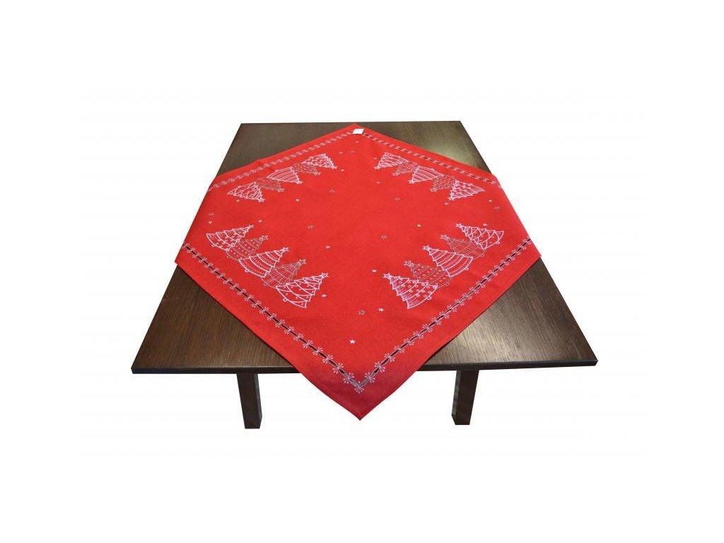 Červený vianočný obrus na stôl - 85x85cm
