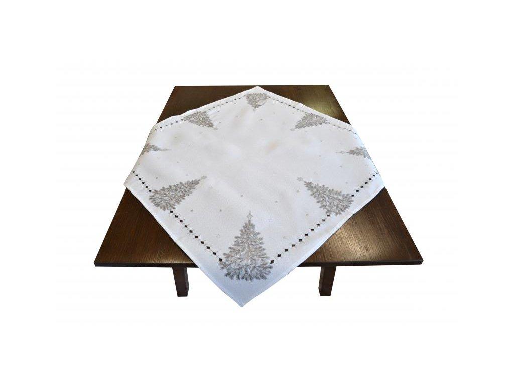 Biely vianočný obrus na stôl - 85x85cm