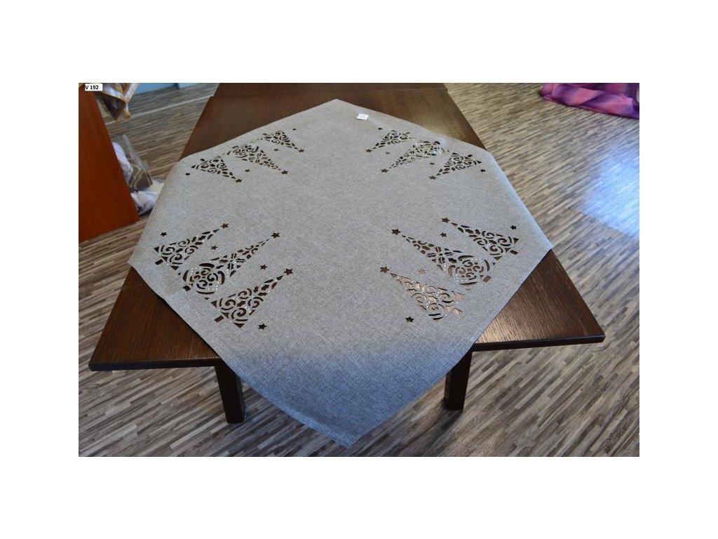Sivý vianočný obrus na stôl - 85x85cm
