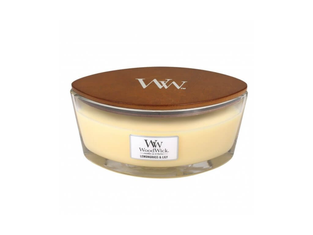 Vonná sviečka Woodwick - Lemongrass and Lily