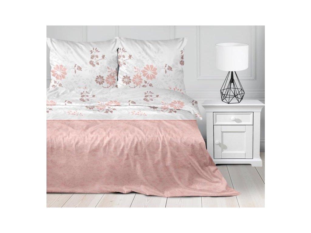 Rúžové saténové kvetinové obliečky Villa Como