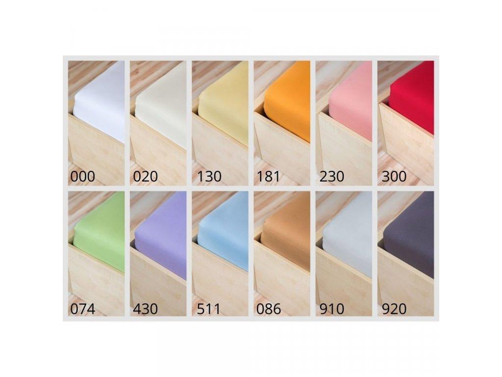Biela plachta na posteľ Jersey SuperStretch - rôzne veľkosti