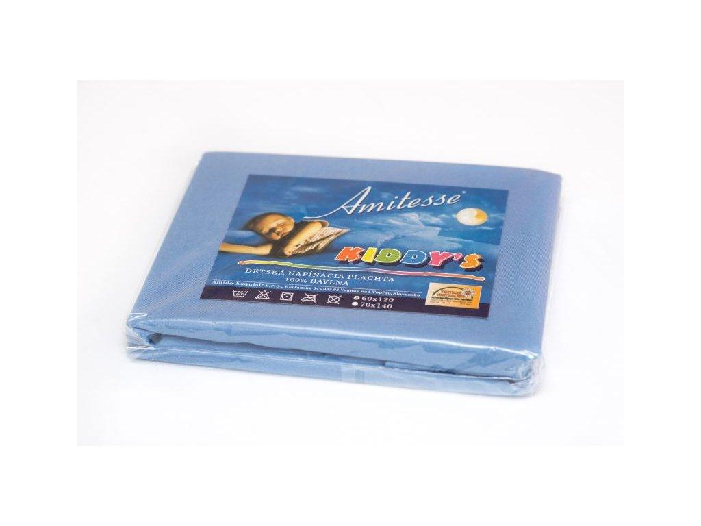 Modrá detská plachta do postieľky - 60x120cm