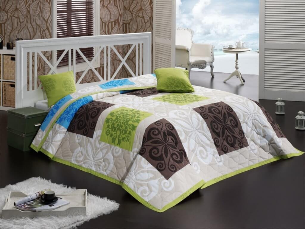 prehoz sedef zeleny na posteľ-Gabonga