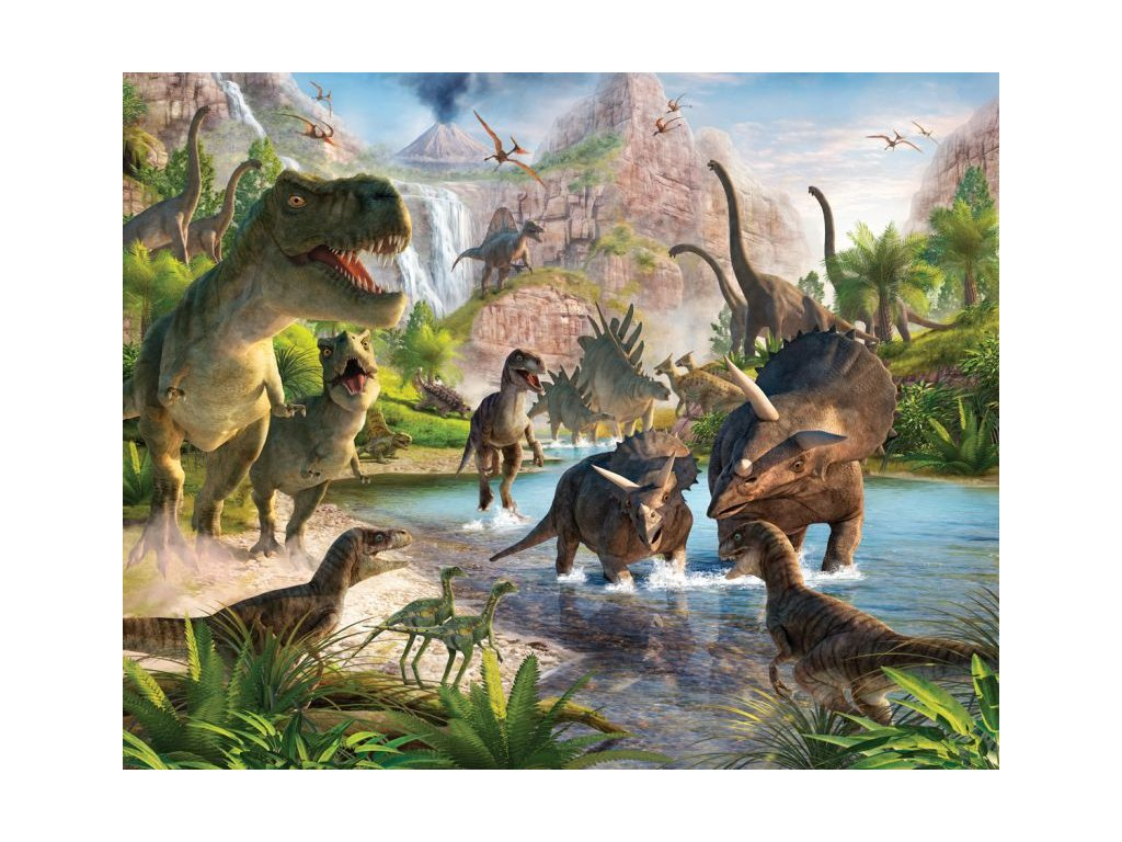 3D Tapeta Dinosaury