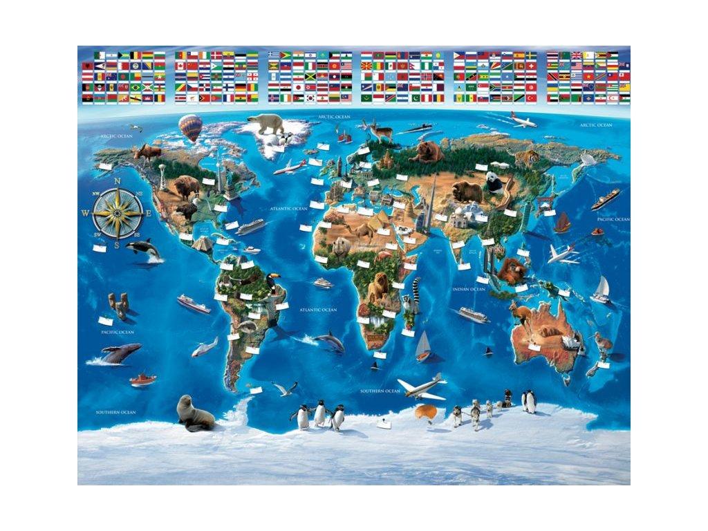 3d Mapa Sveta Tapeta Na Stenu Walltastic Mapa Sveta 3d