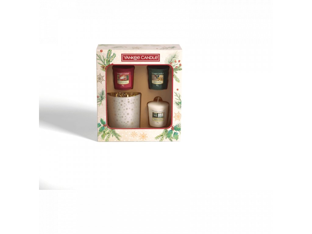 vianocny set 3x sampler a svietnik