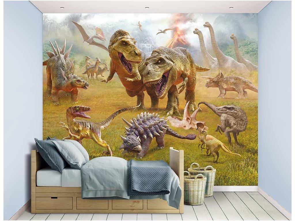 3d tapeta dinosaur land
