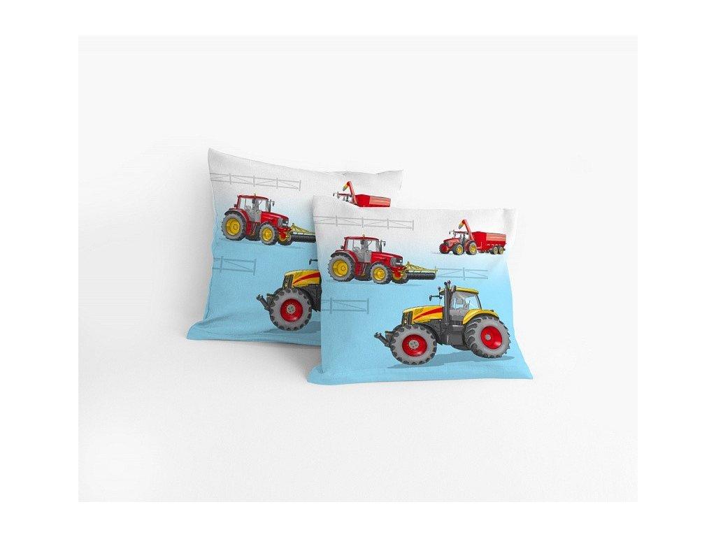 Obliečka na vankúšik Traktor - 40x40cm