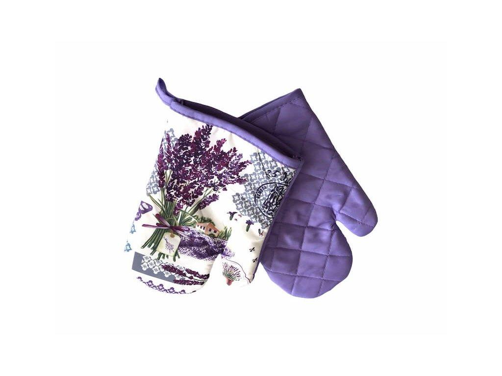 Pekné rukavice do kuchyne na varenie vo fialovo bielom prevedeni s magnetom aj putkom na zavesenie_Gabonga.sk