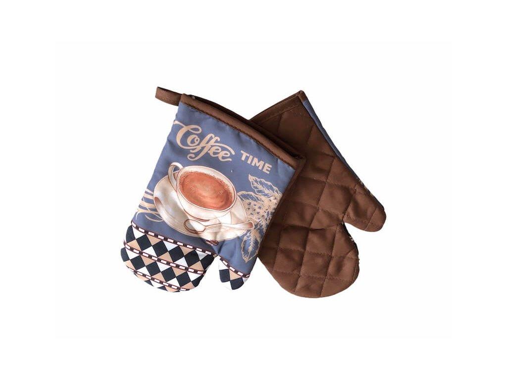 Hnedé kuchynské rukavice Coffe TIME_Gabonga.sk